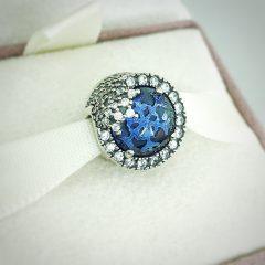 фотография шарм пандора голубая ослепительная снежинка 796358NTB-4 №1