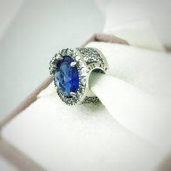 фотография шарм пандора голубая ослепительная снежинка 796358NTB-4 №2