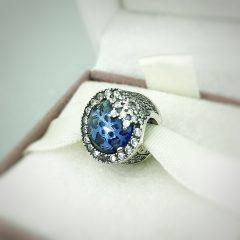 фотография шарм пандора голубая ослепительная снежинка 796358NTB-4 №3
