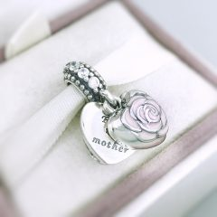 фотография подвеска пандора роза для любимой мамы 791528EN40- №3