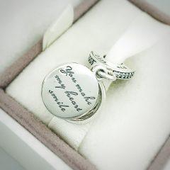 фотография подвеска пандора преданное сердце 792149EN24 №3