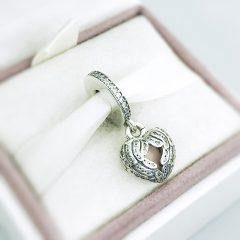 фотография шарм-подвеска пандора сердце медальон 791737CZ №2