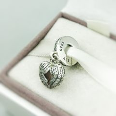 фотография шарм-подвеска пандора сердце медальон 791737CZ №3
