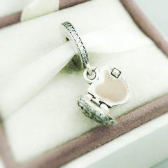 фотография шарм-подвеска пандора сердце медальон 791737CZ №4