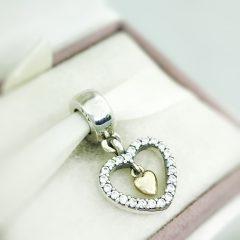 фотография шарм-подвеска пандора с любовью 791421CZ №1