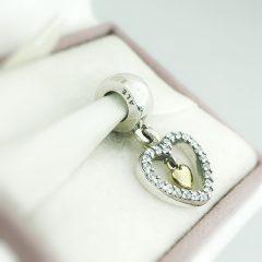 фотография шарм-подвеска пандора с любовью 791421CZ №2