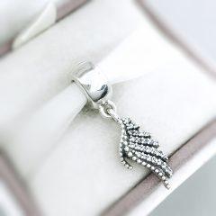 фотография шарм-подвеска пандора волшебные перья 791750CZ №1