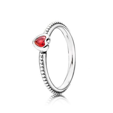 фотография кольцо пандора яркое сердце 190896SGR-2