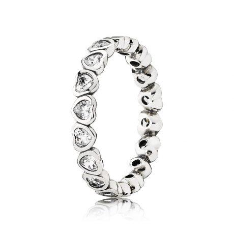 фотография кольцо пандора любовь навсегда 190897CZ-1