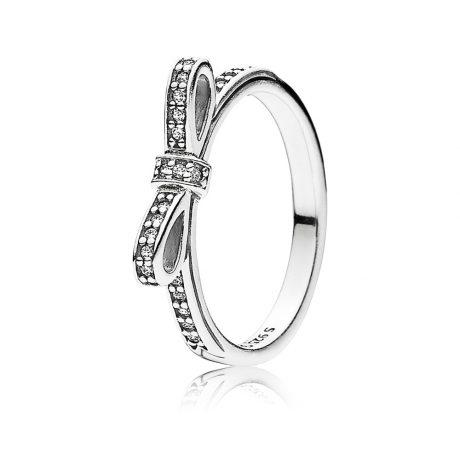 фотография кольцо пандора нежный бант 190906CZ-5