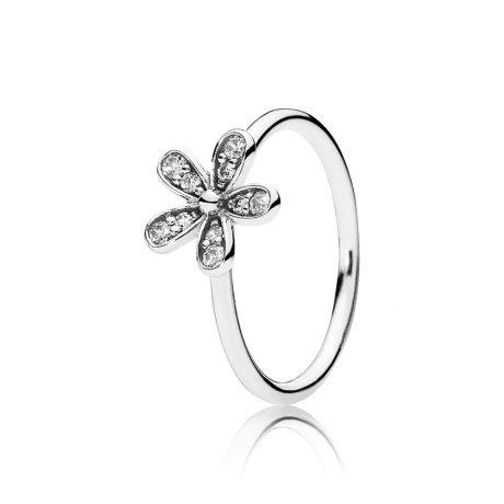 фотография кольцо пандора сверкающая маргаритка 190932CZ-3