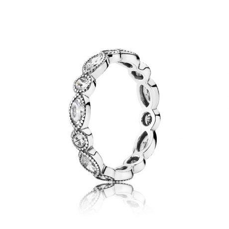 фотография кольцо пандора блистательная маркиза 190940CZ-2