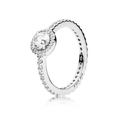 фотография кольцо пандора стильная классика 190946CZ
