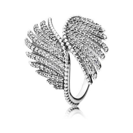 фотография кольцо пандора волшебные перья 190960CZ-1