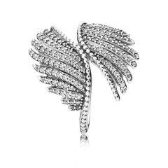 фотография кольцо пандора волшебные перья 190960CZ-1 №1