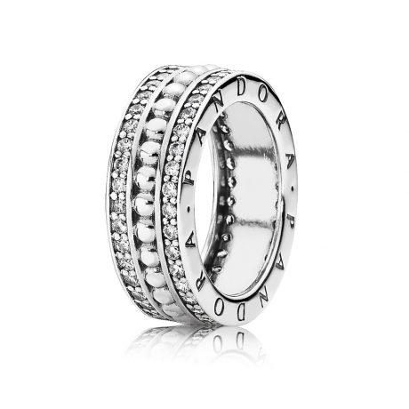 фотография кольцо пандора всегда с pandora 190962CZ-9