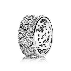 фотография кольцо пандора сверкающие узоры 190965CZ-3