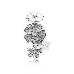 фотография кольцо пандора цветочное настроение 190984CZ-1 №1