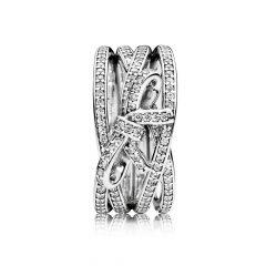фотография кольцо пандора сверкающий бант 190995CZ-5 №1