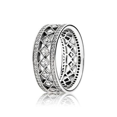 фотография кольцо пандора вечное очарование 191007CZ