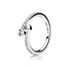 фотография кольцо пандора любовь двух сердец 191023CZ-3