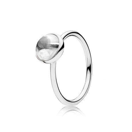 фотография кольцо сверкающая капля 191027CZ