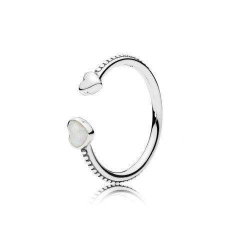 фотография кольцо пандора сердца любви 191045EN23
