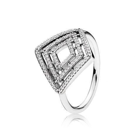фотография кольцо пандора изящная геометрия 196210CZ-4