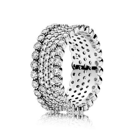 фотография кольцо пандора изящное сияние 196313CZ-3