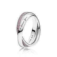 фотография кольцо pandora обещание 196546PCZ-5