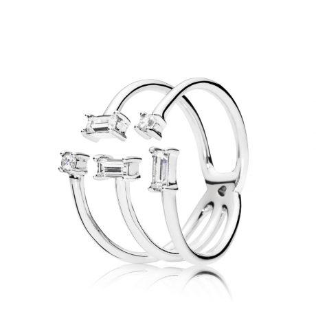 фотография кольцо пандора сияющие льдинки 197527CZ-2