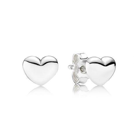 фотография серьги пандора нежные  сердца 290550-1