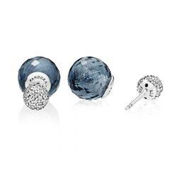 фотография серьги пандора синие мерцающие шары 296355NBC-2 №1