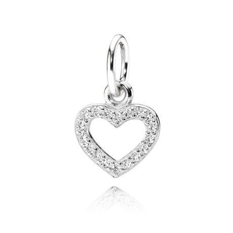 фотография подвеска пандора сердце серебро 925 390325CZ