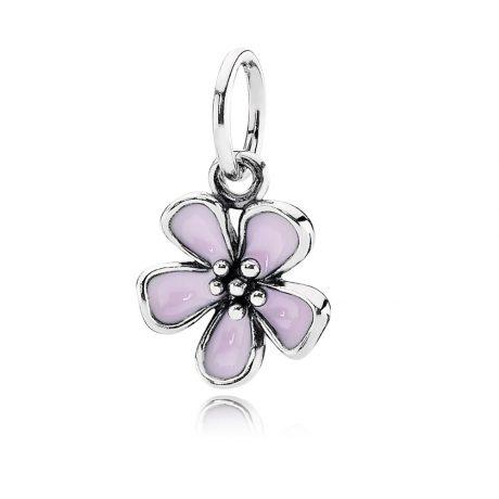 фотография подвеска пандора розовый весенний цветок 390347EN40