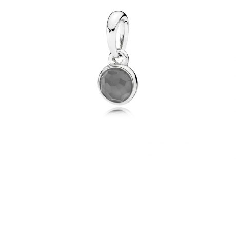 фотография подвеска пандора яркая капелька лунный камень 390396MSG