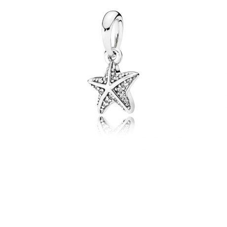 фотография кулон пандора морская звезда 390403CZ