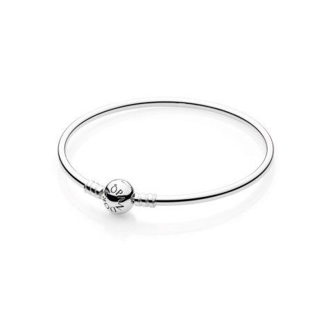фотография жесткий браслет- бэнгл из серебра 925 590713