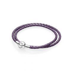 фотография двойной кожаный браслет moments, фиолетовый 590745CPE-D