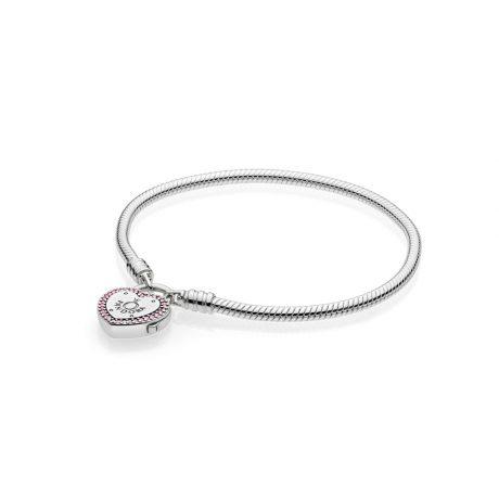 фотография серебряный браслет мягкого плетения обещание 596586FPC