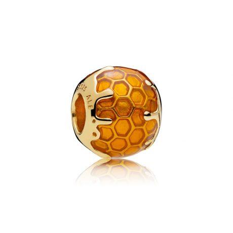 фотография шарм пандора золотистый мёд 767120EN158