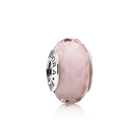 фотография мурано пандора  розовая граненая 791068