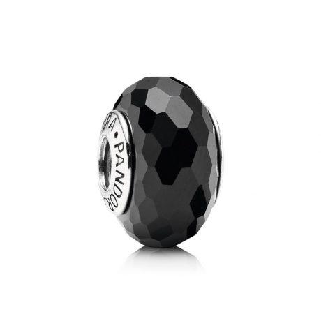 фотография мурано пандора черная граненая- 791069