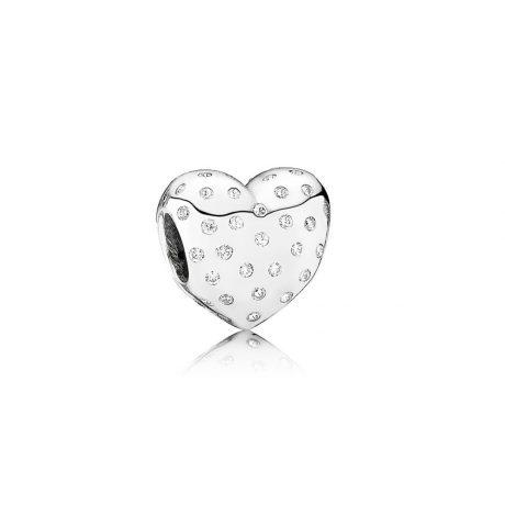 фотография подвеска-шарм пандора сияющее сердце 791241CZ
