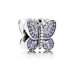 фотография шарм пандора сверкающая бабочка 791257ACZ