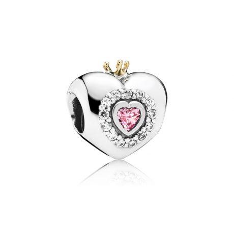 фотография шарм пандора сердце принцессы (с золотом 585 пр) 791375PCZ-1