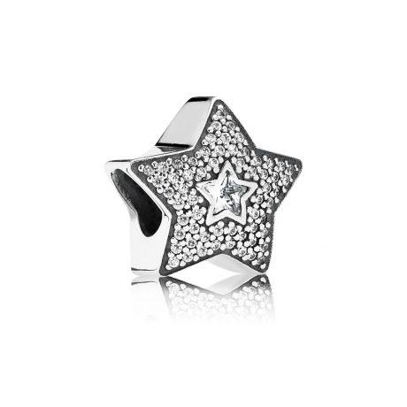 фотография шарм пандора звезда желаний 791384CZ