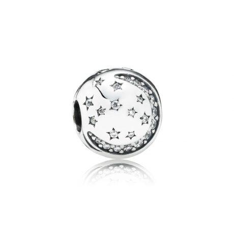 фотография клипса пандора луна и звезды 791386CZ-