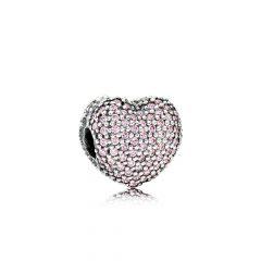 фотография клипса пандора розовое сердце 791427PCZ-