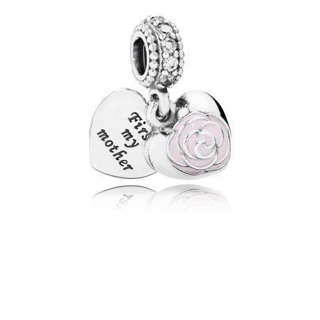 фотография шарм-подвеска пандора роза для любимой мамы 791528EN40